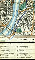 Westminster, Houses Of Parliament, Millbank Penitentiary, Millbank, Lambeth Palace, Lambeth, Vauxhall Bridge, Vauxhall Gardens, & Nine Elms
