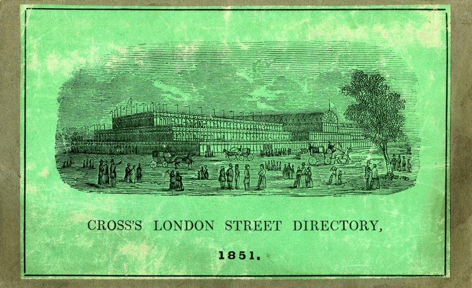 Cross's London Guide 1851